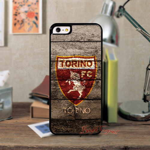 Torino FC Sports Hard Black Cell Phones Back Shell Case Cover For Iphone 5 5S 4 4s and 5C Cases Free Shipped(China (Mainland))