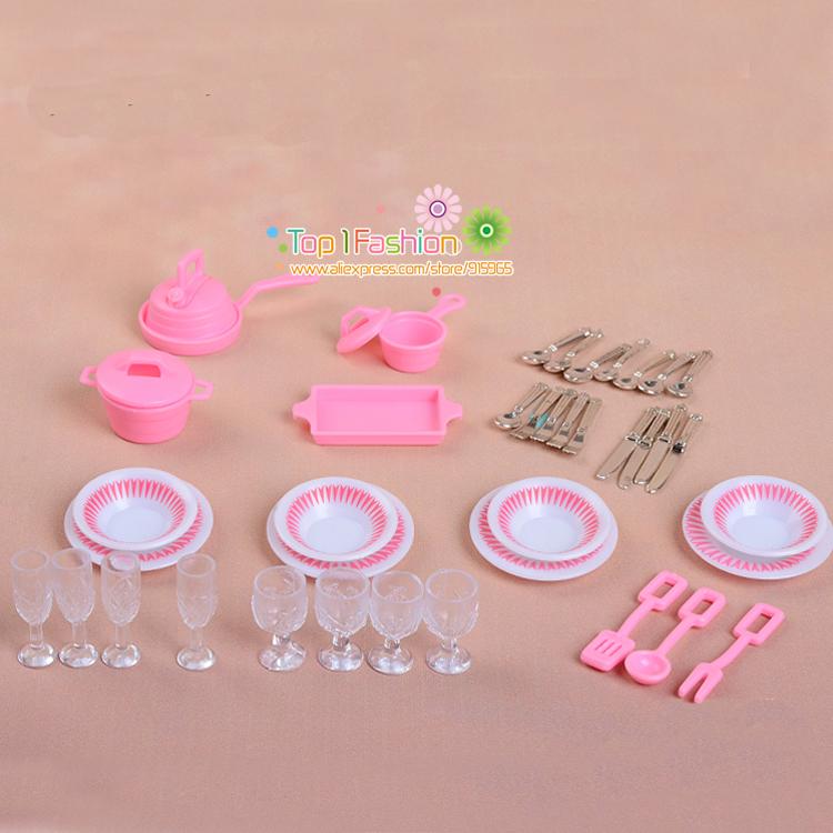 Mininature Simulation Tableware Bjd Dolls Kitchen Pots And