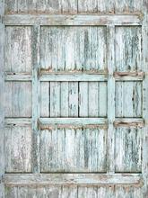 Vintage Barn Wooden Door Art Fabric Backdrop,Peeling Blue Door Prop Backdrop XT-2851