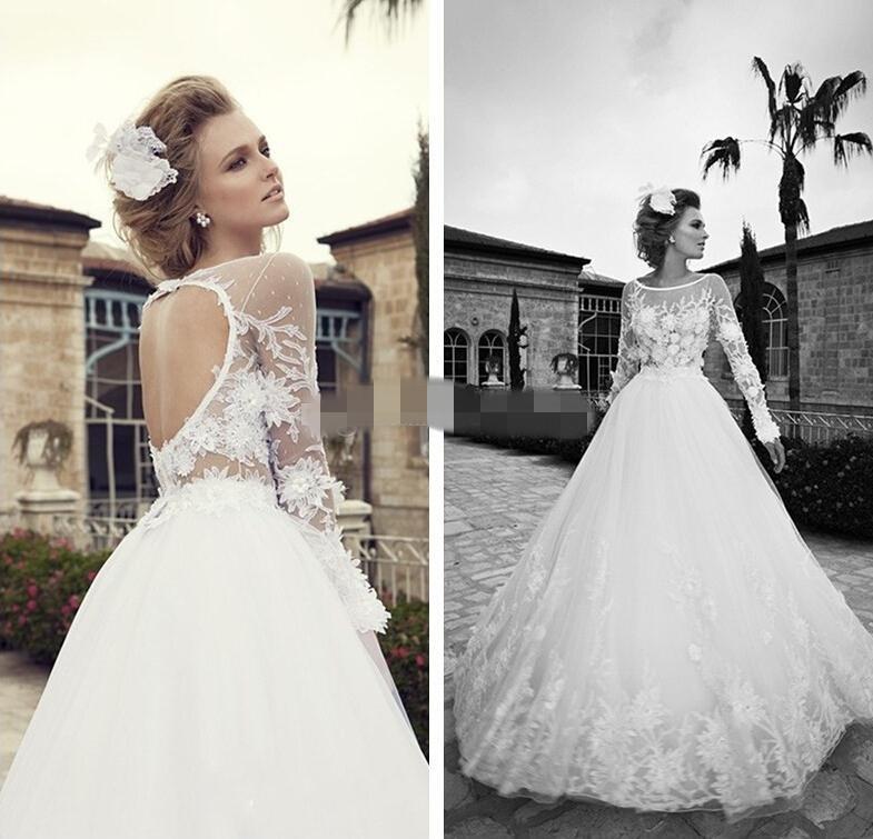 Vintage Wedding Dresses Kcmo : Alfa img showing gt floral lace applique wedding dress