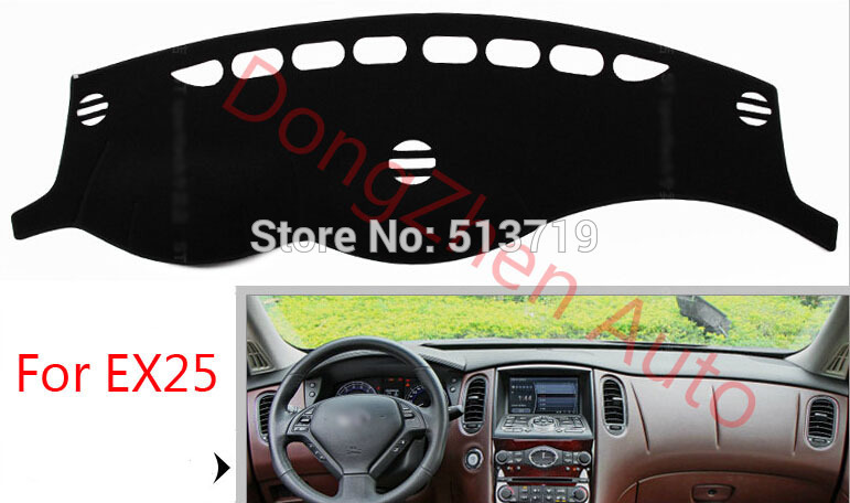 Car dashboard Avoid light pad Instrument platform desk cover Mats Carpets Auto For Infiniti EX25 G35 G25 FX35 45 50/QX70 от Aliexpress INT