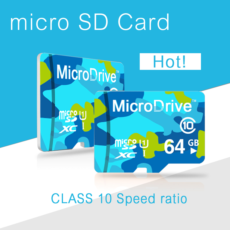 Mirco Drive 2016 Best Hotsale ! New 64GB Micro SD Card 32GB TF Card 16GB Memoria microsd 8GB Memory Card(China (Mainland))