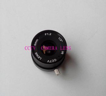 "Free shipping 2014 top fasion microphone video transmitter video balun hot sale f1.2 6mm 1/3"" cs mount fixed ir cctv camera lens(China (Mainland))"
