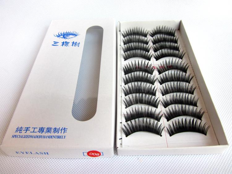 Very Beautiful Eyelashes 10 Pairs/Lot Winged Beauty Supplies Eyelashes Individual False Eyelashes(China (Mainland))