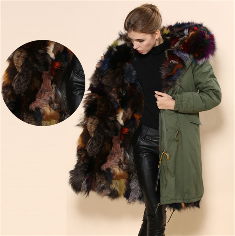 Italy design keep warm fashion font b women b font real fur font b coats b