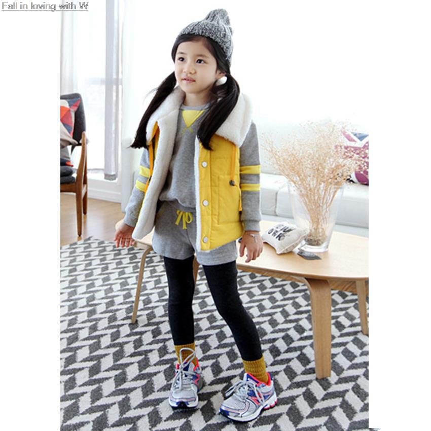 Girls Winter Vest Fashion Korean Childrens Clothing for Girls Lambs Wool Warmer Cardigan Vest Baby Kids Outerwear 2016 Spring<br><br>Aliexpress
