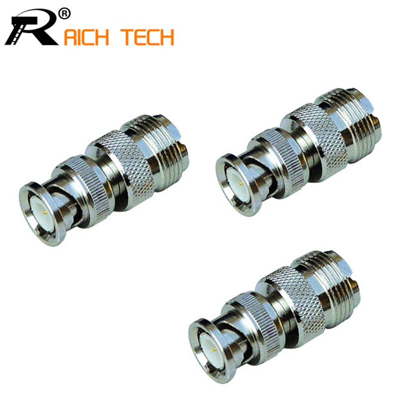 High quality R Connector BNC to N adapter BNC male plug TO N female jack adapter 3pcs/lot(China (Mainland))
