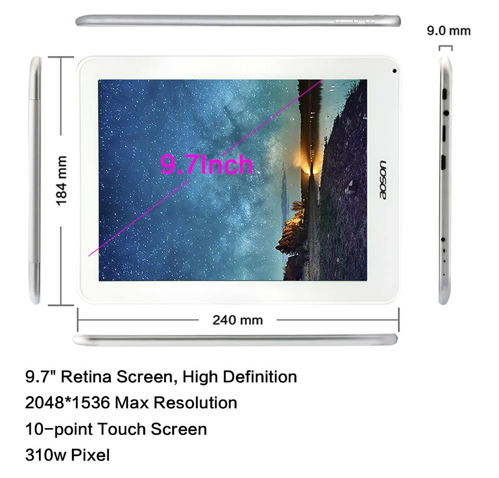 Aoson M30Q M30 Android 3G Tablet PC 9 7 inch Quad Core Rockchip RK3188 1 6GHz