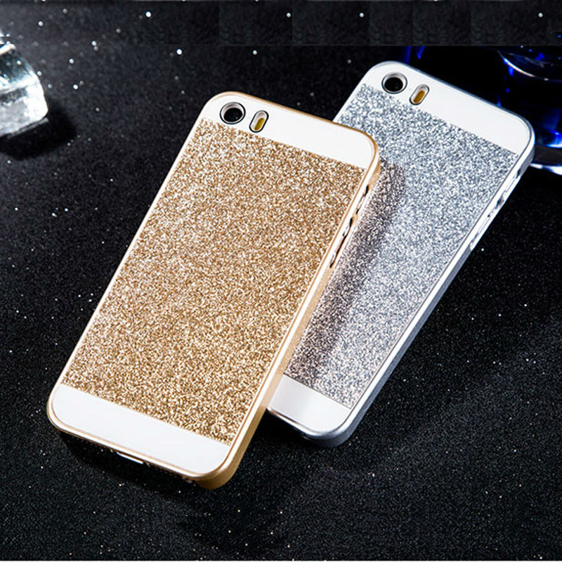 Luxury Bling Hard Case iPhone 5s 5 & 4s 4 apple LOGO Fashion Gold Silver Glitter Mobile Phone Cover Cases iPhone5 s - Hots store