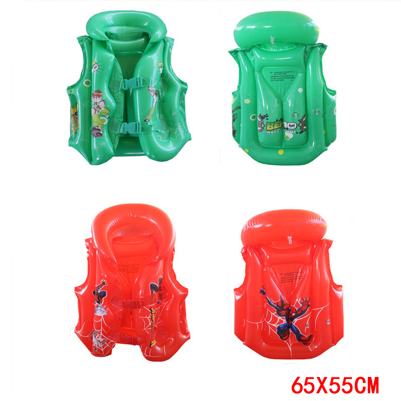 2 Size Child Safety thick PVC inflatable life jacket swimsuit swim Vest Kids Inflatable Life Vest Baby Swimming Vest Clothing(China (Mainland))