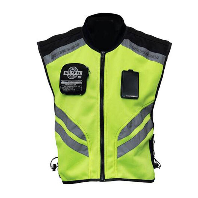 Мотоцикл мотоцикл высокой видны отражающей предупреждение ткань жилет + безопасности светоотражающий защитный жилет одежда