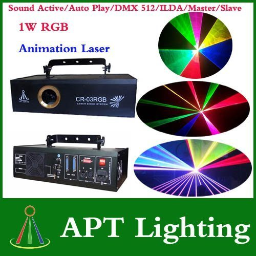 Crazy Promotion AC100V 1.1W RGB Full Color Animation Laser Stage Light Laser Disco DJ Party Light free shipping