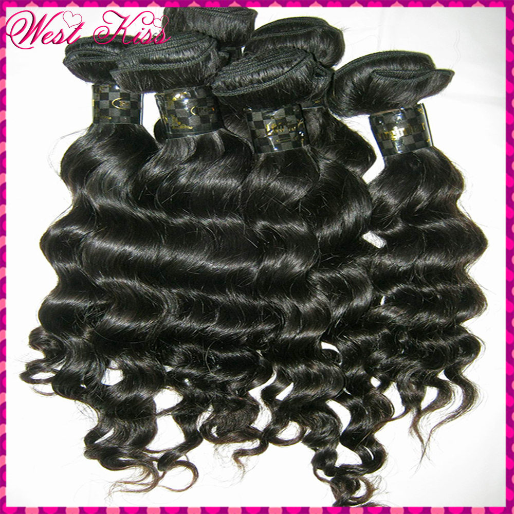 "Fresh bundles Filipino Virgin Human Hair 3pcs/lot (16""/16""/18"")Deep Wave Loose curls Steamed Texture Full Cuticles Inctact(China (Mainland))"
