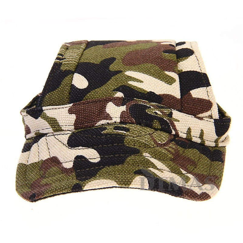 Hot Sale Sports Fashionable Adjustable Pet Dog Cat Camouflage Baseball Cap Hat With Ear Holes Lowest Price(China (Mainland))