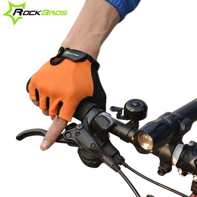 ROCKBROS Cycling Bike Half Finger Gloves Sport Gloves Yellow New Bike's Gloves Mtb Racing Mechanix 2014, 4 Colors(China (Mainland))