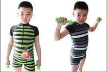 2015 Baby Boy One Piece Swimwear Spandex Swimming Sets Children Sunscreen Rash Guards Child Swimsuit For 105-150cm Free Shipping(China (Mainland))