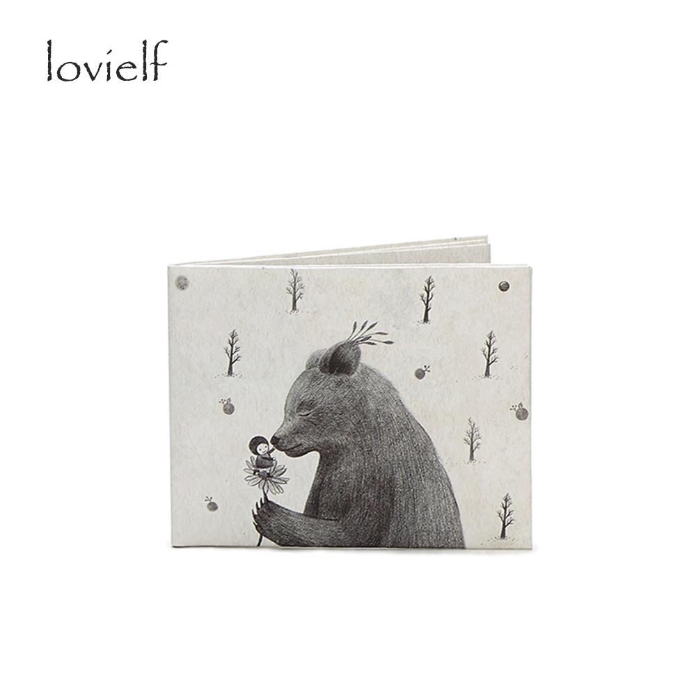 Creative Cute Cartoon Bear Paper Wallet Money case Card holder ultrathin Purse Kitty Waterproof Wallet Gift(China (Mainland))