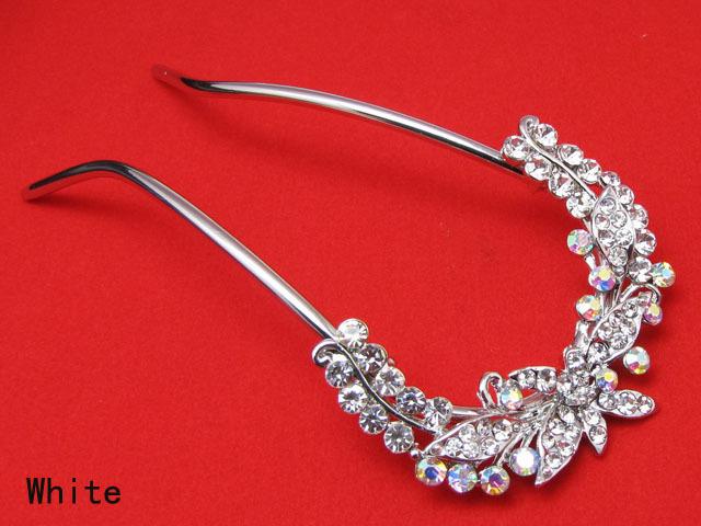 Crystal Rhinestone Elegant Fashion Girls' Hair Clasp Comb Stick Hairpin U shape Hot Hair Accessories(China (Mainland))