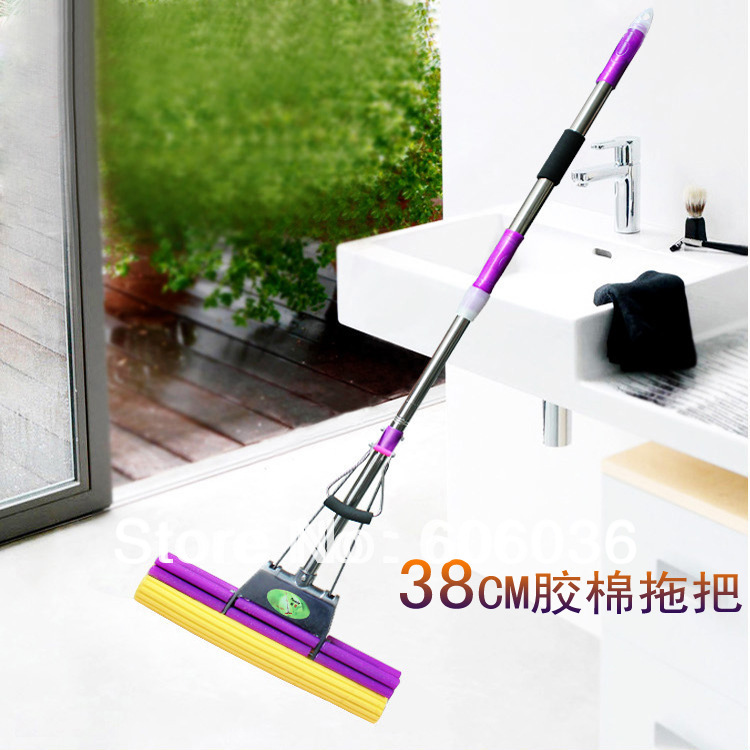 Large 38cm double aluminum wheel does not lure steel fork PVA glue cotton mop head Wholesale(China (Mainland))