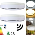 15W PIR Motion Sensor 30 LED Ceiling Light Lamp Body Automatic Light Switch AC 220V Warm
