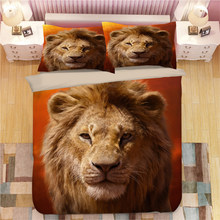 Lion king comforter bedding set for teenagers home decoration single size quilt covers queen bed spread 3-4pcs discount hot sale(China)
