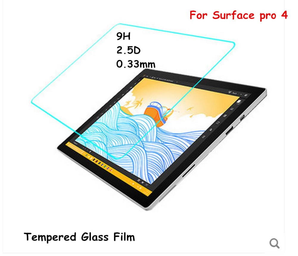 Ultra thin HD Clear 0.26mm 2.5D Premium Tempered Glass Screen protector For Microosoft Surface pro 4 pro4 12.3 Protective Film<br><br>Aliexpress