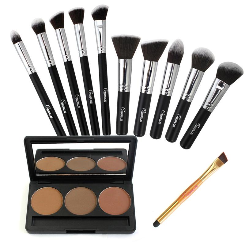 best professional makeup brush set. best makeup brush brand aliexpress sixplus new 10 pcs professional brushes set black handle
