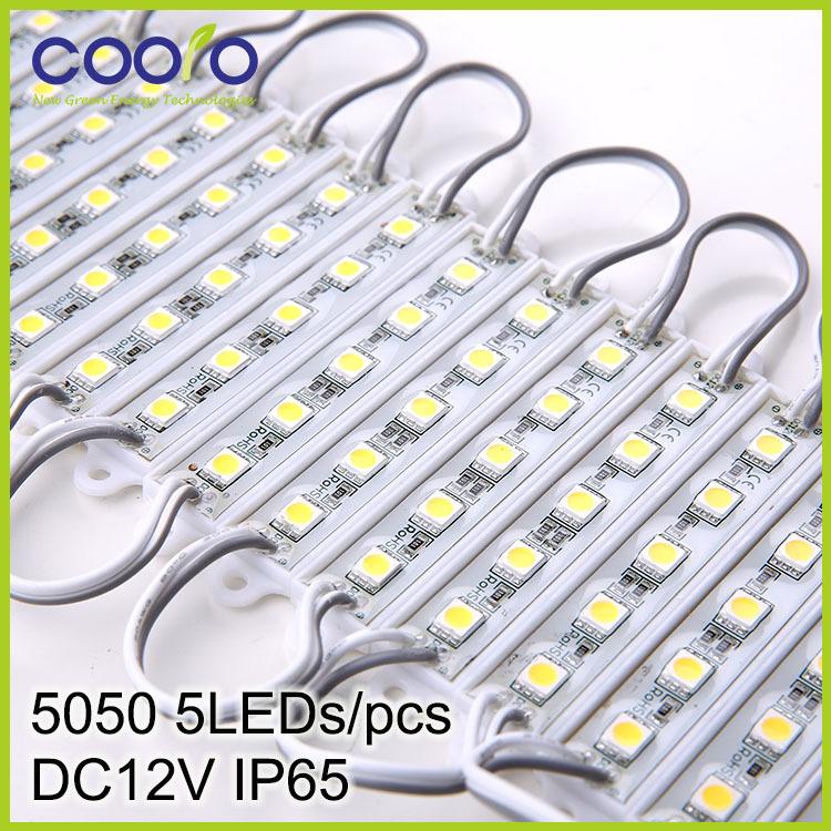 DC12V 5050 5LEDs LED Modules IP65 waterprood,LED Sign Backlight Modules,Advertising Light Box Modules,20PCS/Lot,free shipping(China (Mainland))