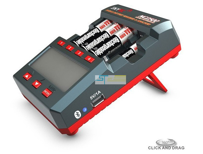 2013 NEWEST SkyRC NC2500 AA/AAA Bluetooth Controlable Battery Charger &amp; Analyzer With Low shipping<br><br>Aliexpress