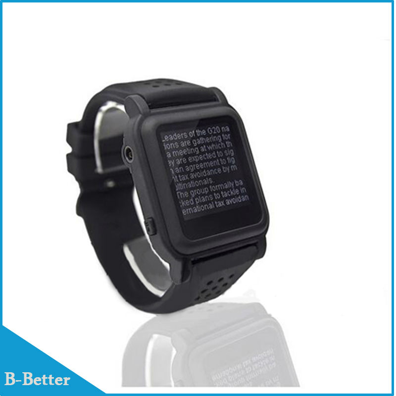 2016 New Arrival Free shipping MP4 Watch 8GB Memory eBook watch Support e-book reader Music player Different language(China (Mainland))