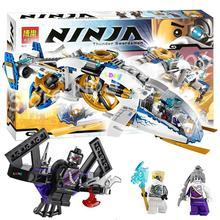 Bela 10223 NinjaCopter Toy Helicopter Phantom aircraft Minifigure Assembled Building Block educational Compatible With Lego