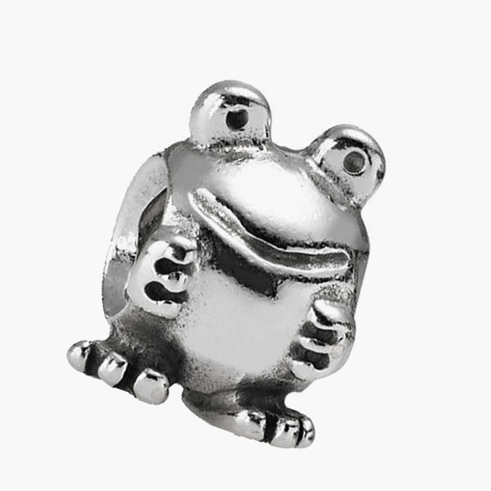 Animal Fairytale 925 Sterling Silver Bead Fit Pandora Bracelet Authentic Jewelry European Charm Froggie(China (Mainland))