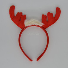 Girls Deer Ears Headband Costume Party Red Hair Accessories Daily Wear