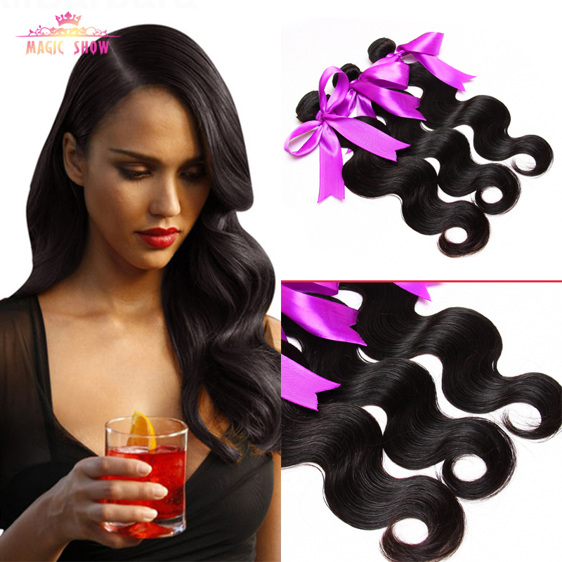 High Quality 8A Unprocessed Peruvian Virgin Hair Body Wave Black #1B 3pcs/Lot Peruvian Body Wave Virgin Hair Bundles Human hair <br><br>Aliexpress