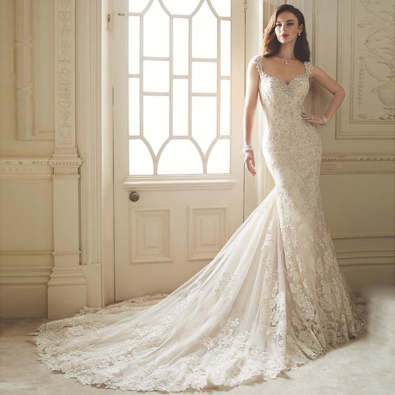 Bridal Dresses Mermaid Beads Robe de Mariee Sirene Wedding Dresses ...