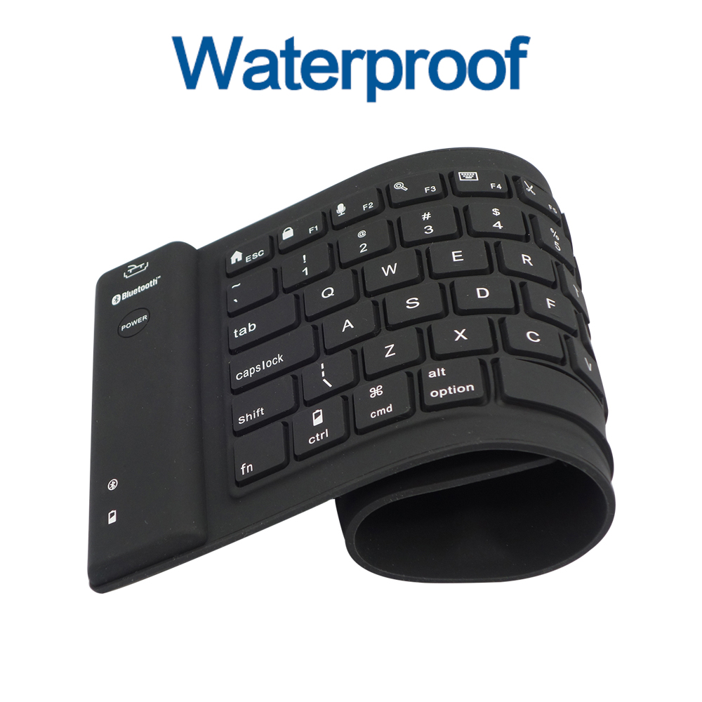 3.0 Bluetooth Keyboard Teclado 81/108key Wireless Flexible Soft Silicone Black Roll up For PC Tablet Phone IOS/Android Windows(China (Mainland))