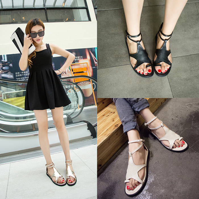 2015 Summer style sandals summer shoes women sandal flat flip flops personality sweet girl zapatos mujer - miyake mei's store
