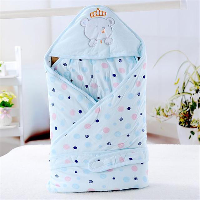 Детские хлопок камвольно пеленать обернуть мягкой конверты для новорожденных 0 - ...