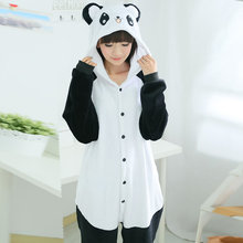 Winter autumn animal  pajama set homewear Cartoon lovely Kung Fu Panda Hooded onesies Pajama couples  sleepwear plus-size