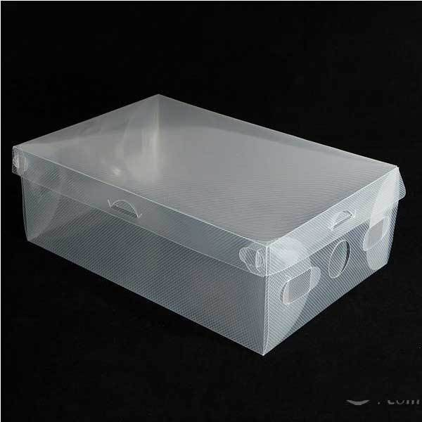 Garlow Clear Stackable Plastic Shoe Storage Boxes(China (Mainland))