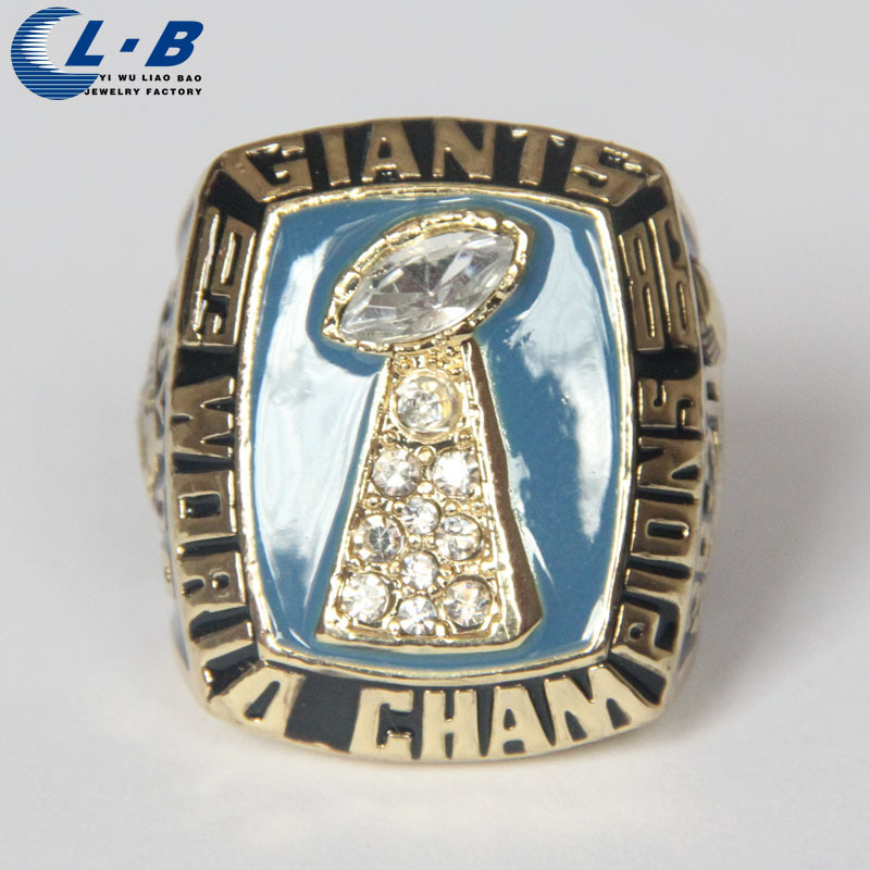 Free shipping 2014 mode sport Jewelry 1986 Super Bowl New York raksasa Championship Cincin kustom ukuran besar 9 10 11 12(China (Mainland))