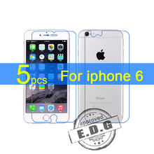5pcs Gloss Ultra Clear LCD Screen Protector Film Cover For Apple iphone 6 6G 6s 4.7″ front+back Film + cloth