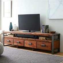 American Village loft retro wood TV cabinet to do the old wrought iron tables with drawers TV cabinet rough TV(China (Mainland))