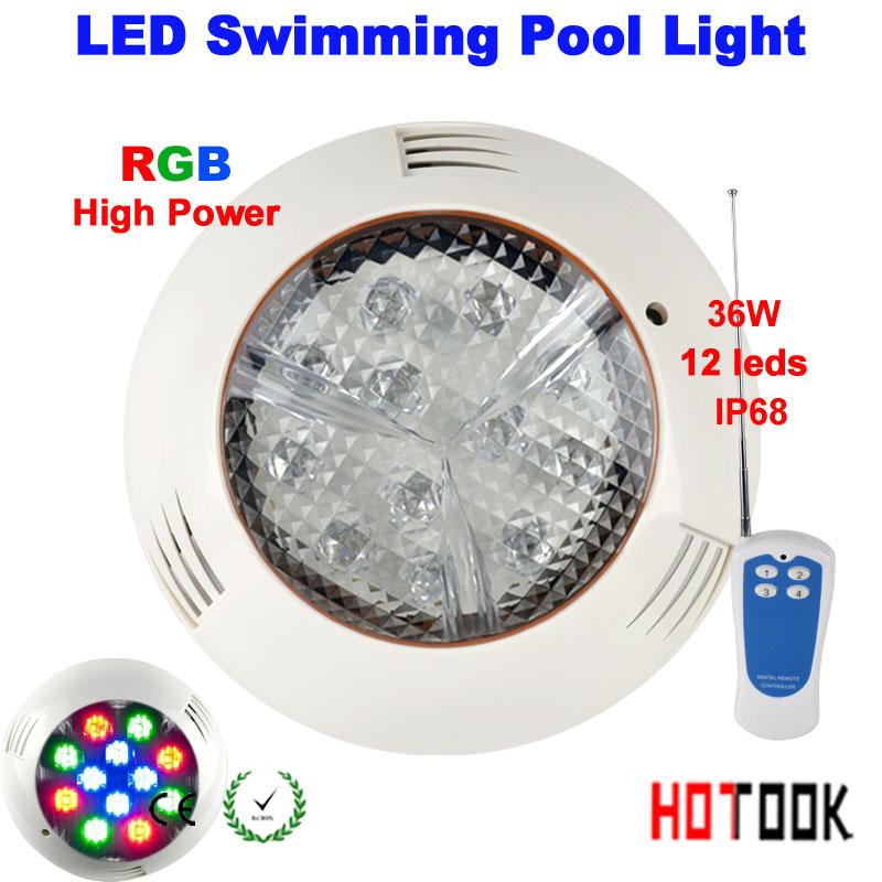 36w led swimming pool light ip68 12v 12leds outdoor lighting rgb led. Black Bedroom Furniture Sets. Home Design Ideas