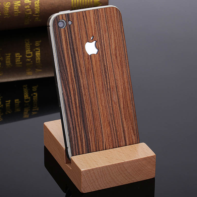 retro real wood sticker of phone case for iphone 4 new arrival deluxe luxury phone. Black Bedroom Furniture Sets. Home Design Ideas