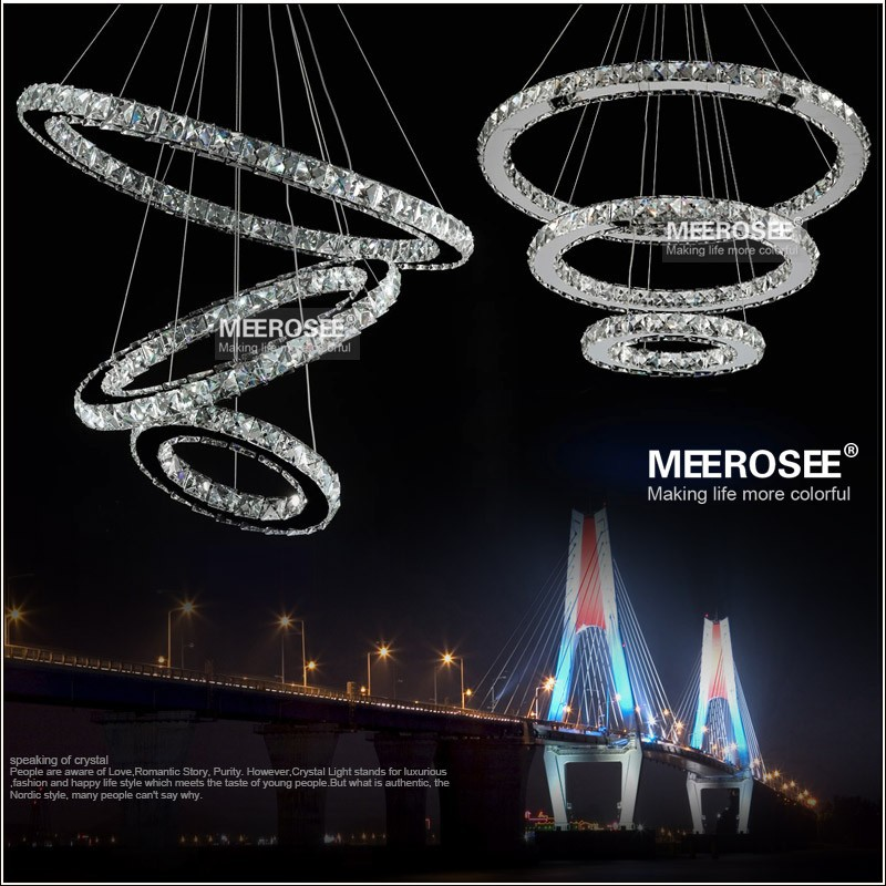 Modern LED Crystal Ring Chandelier Light Raimond Crystal