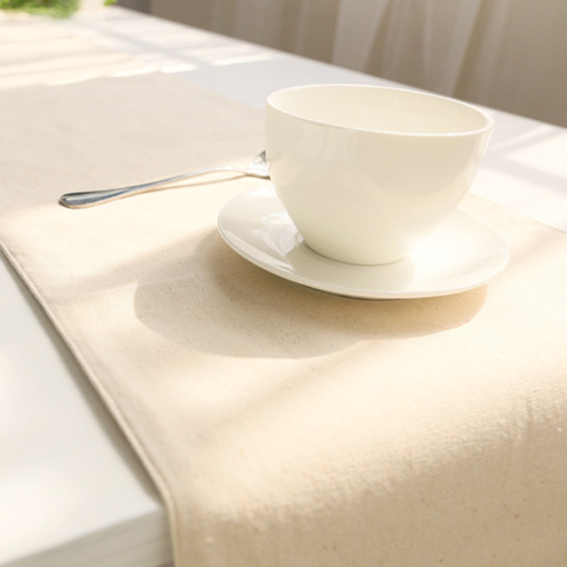 aliexpresscom buy pure color linen table runner cloth chemin de table wedding home decoration bed runner coffee flag 30x180cm to 32x220cm from reliable - Chemin De Table Color