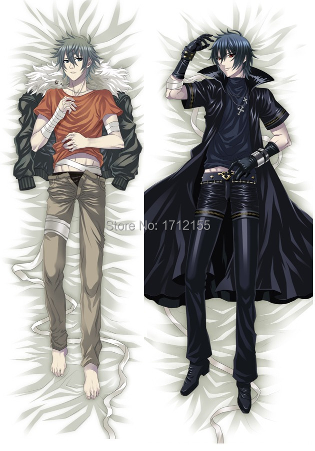 Male 150cm Japanese Anime Dakimakura Togainu Chi Akira BL pillowcase decorative male Pillow Case Cover Hugging Body Bedding - Supermarket Online store