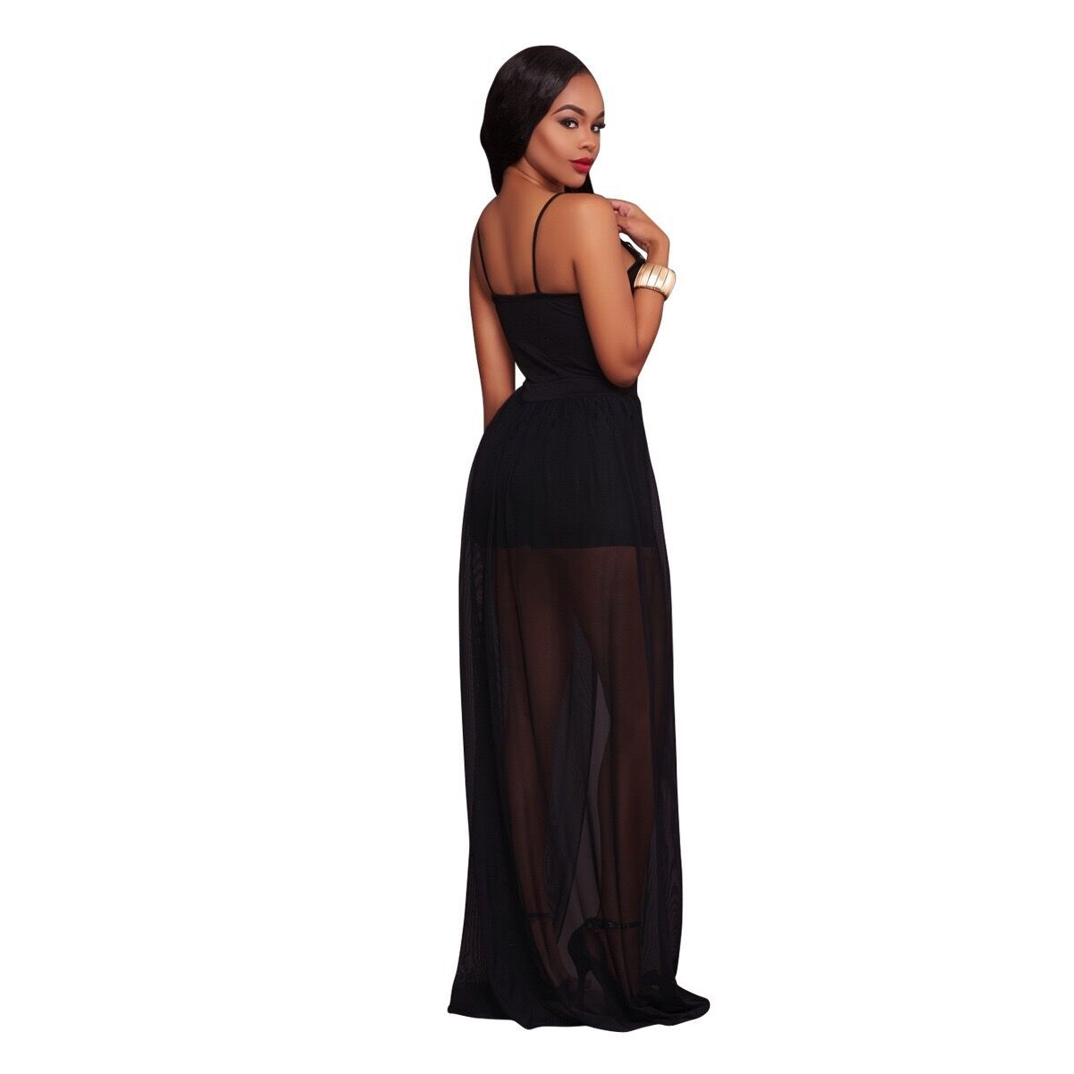 Elegant Jumpsuit Limited Enteritos Mujer 2017 New Sexy Pants European Evening Harness Cousal Jumpsuit Deep V Bodysuits Piece