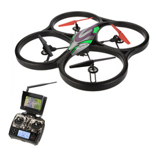 WLtoys V666 5.8G FPV Quadcopter 6 Axis 4CH Big UFO RC Drone With 2.0MP HD Camera and Monitor RTF(China (Mainland))